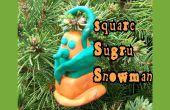 Sugru Snowman Christmas Ornament vierkant