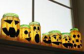 Gerecycled Jar Jack O'Lanterns!