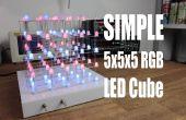 Maken je eigen eenvoudige 5 x 5 x 5 RGB LED Cube