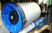 Grote vortex kanon met ingerichte rook machine