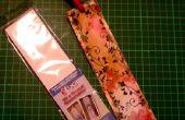 Een afgestempelde Vintage bladwijzer met folie randen maken