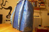 IKEA hack: blauwe tas rugzak