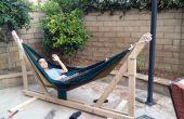 DIY houten hangmat standaard