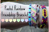 Pastel Rainbow vriendschap armband