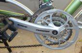Eenvoudige fiets keten guard gemaakt van grote keten ring