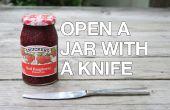 Open een stuc Jar met een mes