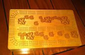 CNC gerouteerd Cribbage Board