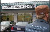 De wasmachine met een jojo