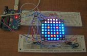 Arduino aangedreven drie kleur 8 x 8 Led matrix