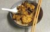 Langzaam gekookt Teriyaki wafel Tofu
