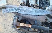 Het maken van een grote kamp mes uit een oude rasp. Deel 2