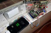 Zonne-energie telefoon opladen systeem voorzien van de tracking van de zon