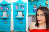 DIY karton hoek meubilair - gerecycled crafts - handgemaakte meubels