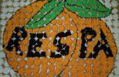 Oranje Cupcake muurschildering