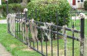 Halloween begraafplaats hek