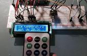 LCD-scherm van de temperatuur in C of F door het kiezen van het type met een IR-remote