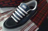 Hoe kant schoenveters-balkstijl