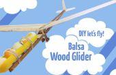 Balsa houten zweefvliegtuig