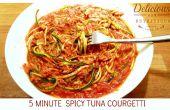 5 minuten pittige tonijn Courgetti