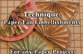 Hoe maak je een halve papier Fans voor knutselen