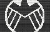Een afbeelding maken van eenvoudige Cross Stitch patroon van an