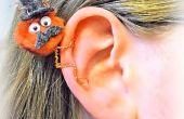 Draad snor Man Ear Cuff