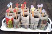 Hoe maak je biologische aanplant potten met behulp van oude kranten