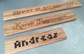 Laser gesneden houten naam teken