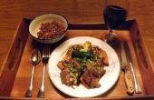 SOJA-vrij, glutenvrij, STEAK TERIYAKI met zoete AARDAPPELEN en courgette