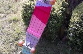 Een longboard parket