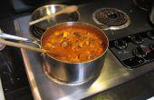 Rode Curry met kip en groenten