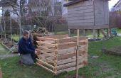Bouwen van een compostbak van pallets