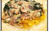 Vegan Mushroom spinazie roomsaus