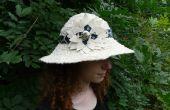Converteerbare Sun Hat gemaakt van stroken stof