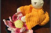 Monnik met bloem