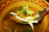 Genezen van de griep met kip noodle soep *