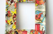 Decoupage Foto Frames met behulp van Comics