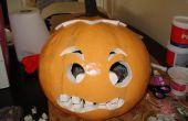 Pompoen Halloween kostuum van het hoofd