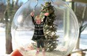 Maak een sneeuw Diorama glazen Ornament