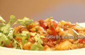 Aubergine salade – met tomaten & paprika's