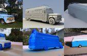 Over 3D afdrukken een aangepaste automodel (1966 Chevy Bus)