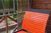 Patio in de tuin schommel bed - wanneer een eenvoudige hangmat gewoon niet doen!