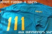 Bootleg Fallout 4 T-Shirts met een vinyl-cutter. aka gun runner shirts