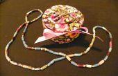 Tonijn kunt sieraden doos en papieren parels