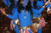 Kostuum Halloween dios indu india gewapend Kali kostuum 4 armen Disfraz Kali 4 Brazos TENERIFE CARNAVAL originele DISFRAZ Goddes