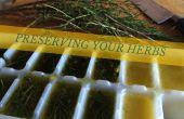 Behoud van kruiden - in olijfolie