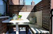 DIY Privacy panelen voor een klein balkon