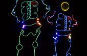 EL Wire skelet kostuum lichten gecontroleerd door een Arduino