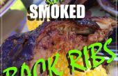 Applewood traag gerookt terug ribben