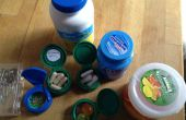 Mini containers van fles & jar caps
